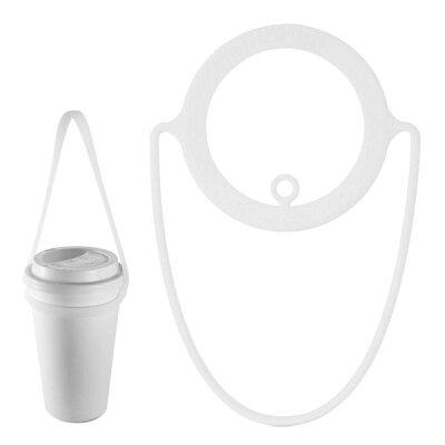 ドリンクホルダーカップホルダーテイクアウトタピオカ持ち運びコンビニコーヒースタバカップに適用シリコン製軽量持ち帰り飲み物バッグかっこいいプレゼントCupTieLF18082Bonecollection
