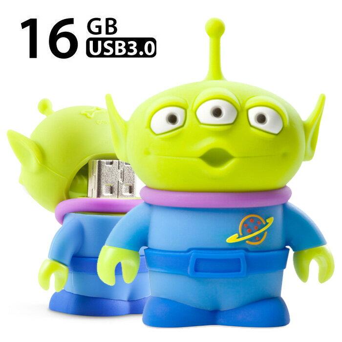 ピクサー USBメモリー 16GB USB3.0対応 リトルグリーンメン ディズニー エイリアン トイストーリー かわいい おもしろい プレゼント 贈り物 Bonecollection 日本正規代理店 PJDR18081-16G