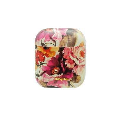 KingXbarAirPodsケーススワロフスキー使用Swarovski花柄フラワーデザインハードケースエアーポッズVintage-flowerKXB-VF004
