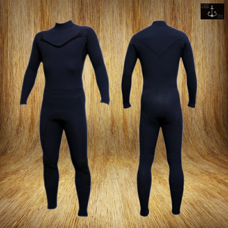 国内縫製 伸縮素材 BLACK Jersey CLASSIC 3mm ZIPLESS ジャージフルスーツ FULLSUITE