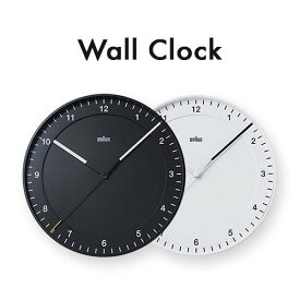 ブラウン 掛け時計 時計 ブラック 黒 ホワイト 白 BRAUN アナログ ウォールクロック BNC017WHWH BNC017BKBK 【並行輸入品】