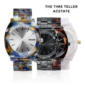 [ニクソン]NIXON 腕時計 Time Teller Acetate タイムテラー アセテート NA3271116-00 NA3272185-00 NA327646-00 NA3272031-00 マルチカラー ブラック トータス ホワイト