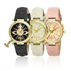 【並行輸入品】ヴィヴィアンウエストウッド腕時計VIVIENNEWESTWOODレディースオーブレザーVV006BKGDVV006WHWHVV006PKPK