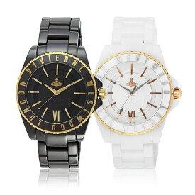 【ヴィヴィアンショッパープレゼント!】【並行輸入品】 ヴィヴィアン 時計 メンズ ヴィヴィアンウエストウッド 腕時計 VIVIENNE WESTWOOD セラミック スローン VV048GDBK VV048RSWH ブラック ゴールド ホワイト