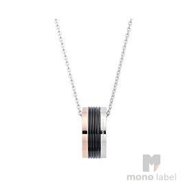 【並行輸入品】[Calvin Klein] カルバンクライン KJ7MBN300100 トリコロール サークル ペンダント ネックレス