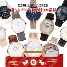 Gショックやヴィヴィアンウエストウッドも! 選べる人気の10ブランド腕時計3本入 令和新春福袋 ポッキリ3万円! 2020年 【送料無料・数量限定・税込】【お買い物】