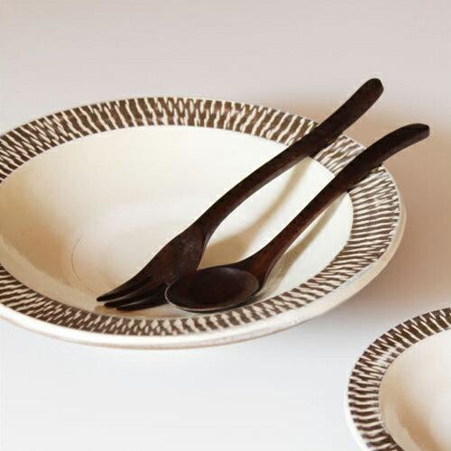 【小鹿田焼 8寸皿 ゾウガン 白 飛びかんな 柄なし/柄あり】テーブルウェア 食器 深皿 和食器 おんた焼き 飛びかんな ギフト■ あす楽■ ラッピング無料