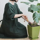 【kapoc japanese house working coat 薄手】カポック 割烹着 エプロン 日本 母の日 コート ナチュラル 麻 リネン■ …