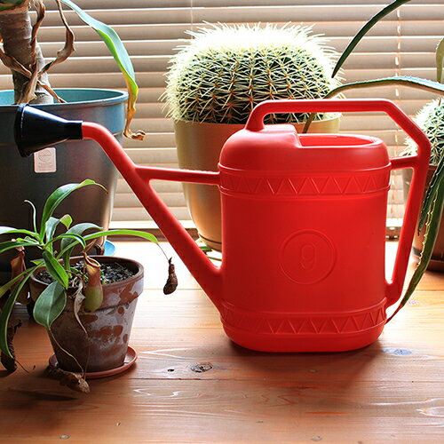 【Watering can ウォータリングカン Red 9L】ガーデン じょうろ 水差し ジョウロ イタリア レッド 赤 ギフト■ あす楽
