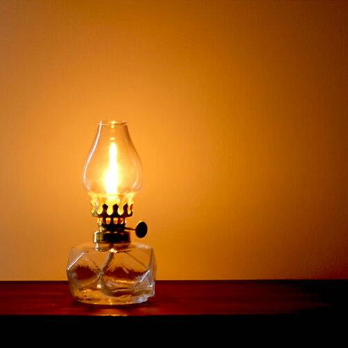 【松野屋 ガラスオイルランプ】ランプ オイル アンティークランプ ギフト レインボーオイル■ あす楽