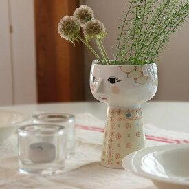 【Bjorn Wiinblad Eva Vase soft yellow】花瓶 フラワーベース ビヨン ヴィンブラッド 磁器 ギフト 母の日■ ラッピング無料