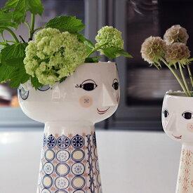【Bjorn Wiinblad Eva Vase blue】花瓶 フラワーベース ビヨン ヴィンブラッド 磁器 ギフト 母の日■ ラッピング無料