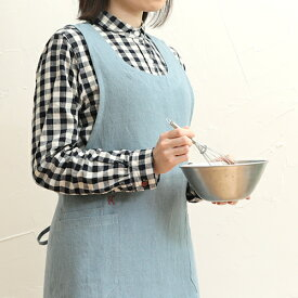 【kapoc Tabard】カポック エプロン 割烹着 リネン 麻 ギフト■ ラッピング無料■ レビュー特典付き