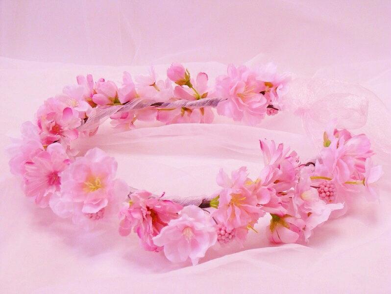 ドレスに合わせた造花の花冠☆リストレット&指輪☆ブートニア☆[ウェディングブーケ][ブライダルブーケ][ヘッドドレス][ヘアード][髪飾り]「リストブーケ」[造花][花冠][造花の花冠][桜][桜髪飾り][桜ウェディング]