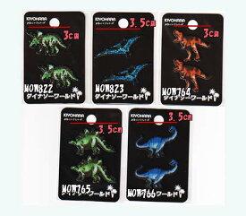 お気に入りシリーズ 刺しゅう風恐竜柄プリントミニワッペン2個つき