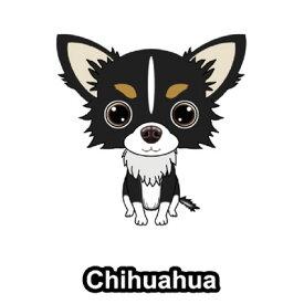 チワワ ロングチワワ チワワロングコート 犬 ステッカー 車 窓 玄関 犬種別 グッズ ドッグステッカー シール カーステッカー 【チワワ】