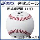 アシックス 野球ボール 硬式練習用1打 BQ16PD asics 1ダース