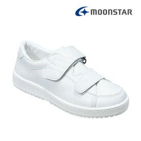 ムーンスター メンズ レディース リハビリ 介護靴 片足販売 Vステップ03 右足のみ ホワイトA 装具対応シューズ MS シューズ