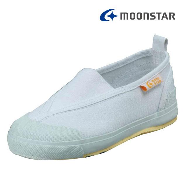 ムーンスター キャロット 子供靴 CR ST12 ホワイト 足の成長と健康をサポートする上履き MS シューズ