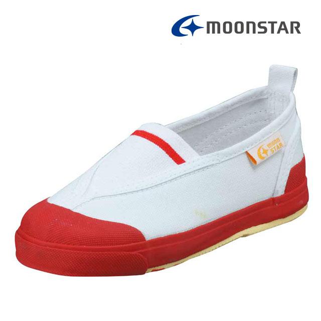 ムーンスター キャロット 子供靴 CR ST12 レッド 足の成長と健康をサポートする上履き MS シューズ