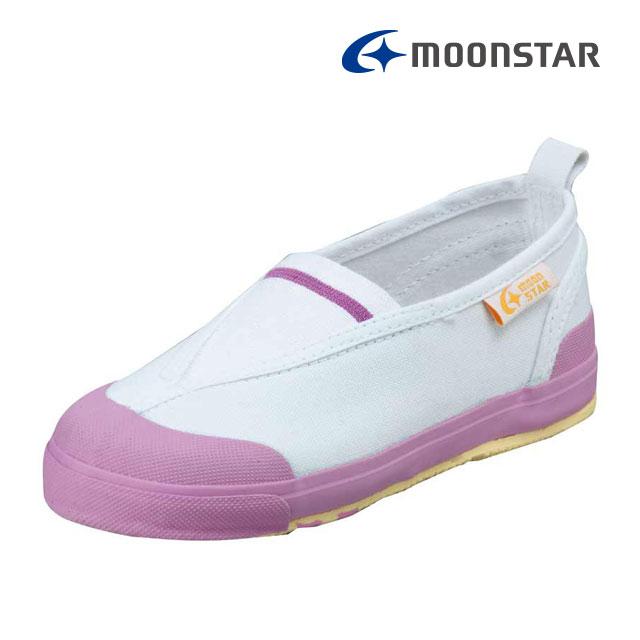 ムーンスター キャロット 子供靴 CR ST12 ピンク 足の成長と健康をサポートする上履き MS シューズ