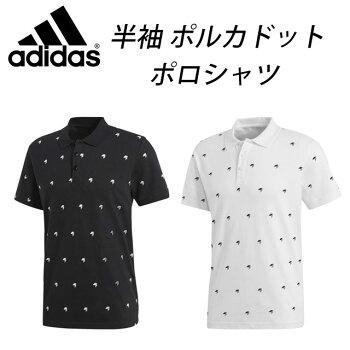 ☆アディダスグラフィックポロシャツ半袖ボタンポルカドットMESSENTIALSEEC10adidas