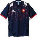 アディダス adidas ラグビーアメゲームシャツ パンツフランス 1stジャージーBSN63COLNVY WHT