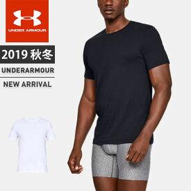 ☆アンダーアーマー メンズ インナー Tシャツ 半袖 丸首 下着 UAチャージドコットン クルー アンダーウェア フィッティド 2枚セット 吸汗速乾 1327428 あす楽