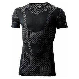 ヨネックス YONEX バドミントン・テニス STBA1016 ユニVネック半袖 シャツ コンプレッション シャツ コアバランス 機能性インナー ボディケア ブラック 黒 日本製