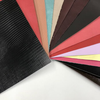 【同色革2枚セット】レザークラフト 革材料A4サイズはぎれ牛革 全20色