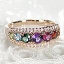 K18PG アミュレット ダイヤモンド リングリング 指輪 アクセサリー レディース ジュエリー K18 18金 PG 18K ピンクゴ…