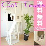 【送料無料!】キャットタワー190cmハンモック付きねこタワー猫タワー据え置き爪とぎ【あす楽対応】【RCP】10P02Mar14