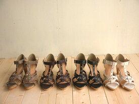 サンダル 三つ編み スタッズ コルクヒール がオシャレな グラディエータ サンダル ブーツサンダル レディース シューズ 婦人靴 カジュアル