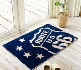 玄関マット 50×80 室内 かわいい ふわふわ アメリカン ルート66