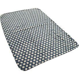 毛布 ブランケット シングル スター 星柄 140×200 ネイビー
