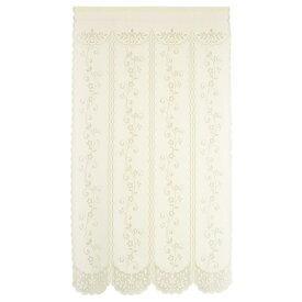 のれん ロング 暖簾 85×150 花柄 フラワー 日本製 間仕切り シンプル 白 おしゃれ 四つ割れフラワー ぽっきり