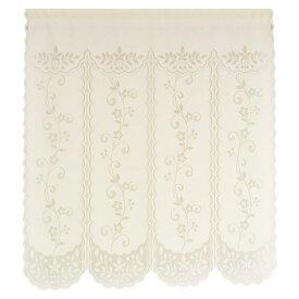 のれん 暖簾 85×90 花柄 フラワー 日本製 間仕切り シンプル 白 おしゃれ 四つ割れフラワー