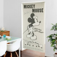 のれん暖簾ロング85×150ディズニーミッキーマウスキャラクター柄可愛いおしゃれ間仕切りジャガードミッキーぽっきり