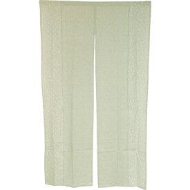 のれん 北欧 リーフ 暖簾 綿 間仕切り 洗える 85×150 シンプル かわいい 花 花柄 おしゃれ グリーン 緑 小町
