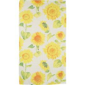 のれん 暖簾 ロング 85×150 ひまわり 向日葵 おしゃれ 間仕切り ぽっきり