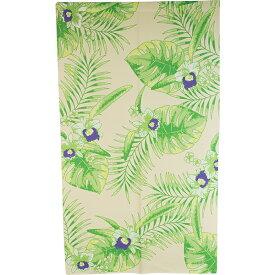 のれん ハワイアン 暖簾 間仕切り 洗える 85×150 葉 花 かわいい おしゃれ 緑 グリーン ボタニカル G
