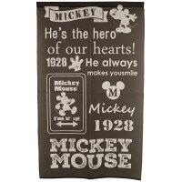 のれん間仕切りディズニーミッキーマウスdisney洗える85×150ブラック