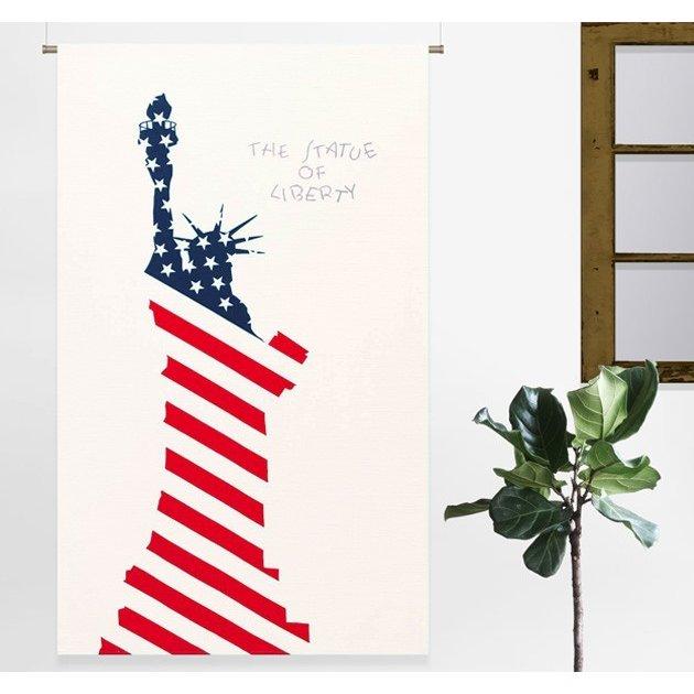 突っ張り棒 レールで使える 間仕切り カーテン のれん 幅110×180cm おしゃれ 仕切り USA
