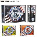 USA TOUR ディスタンス +α ゴルフボール 1ダース (12球入り) 【あす楽対応】 [有賀園ゴルフ]