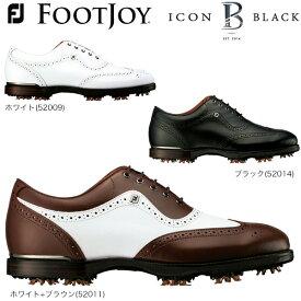 フットジョイ メンズ ICON BLACK ソフトスパイク ゴルフシューズ [2017年モデル] 特価 【あす楽対応】 [有賀園ゴルフ]