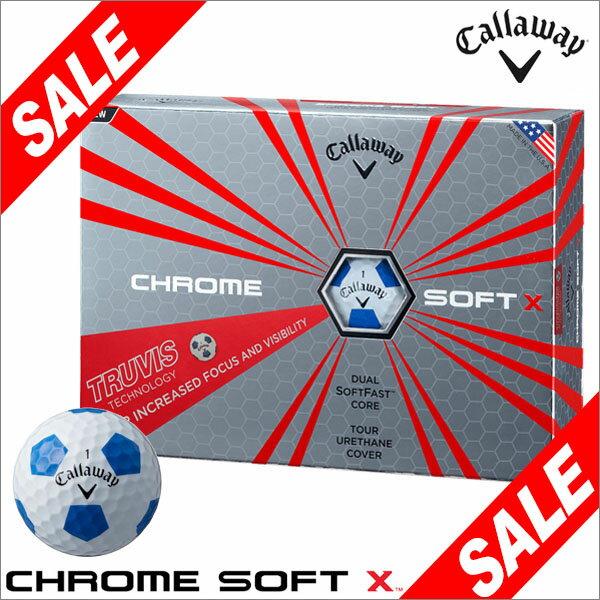 キャロウェイ CHROME SOFT X TRUVIS ホワイト/ブルー ゴルフボール 1ダース(12球入り) [2017年数量限定モデル] 【あす楽対応】 [有賀園ゴルフ]