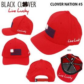 ブラッククローバー メンズ キャップ CLOVER NATION #5 RED ゴルフウェア [2018年モデル] 【あす楽対応】 【ポイント10倍(7/27 9:59まで)】 [有賀園ゴルフ]