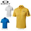 オークリー メンズ バーク SHADOW ボーダー 半袖 ボタンダウンポロシャツ 434188jp ゴルフウェア [2018年春夏モデル 3…