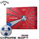 キャロウェイ CHROME SOFT TRUVIS クロム ソフト トゥルービス スターズ&ストライプス ゴルフボール 1ダース(12…