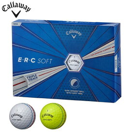 キャロウェイ E・R・C SOFT ERCソフト ゴルフボール 1ダース(12球入り) [2019年モデル] 【あす楽休止中】 [有賀園ゴルフ]